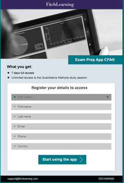 Download our CFA exam prep app
